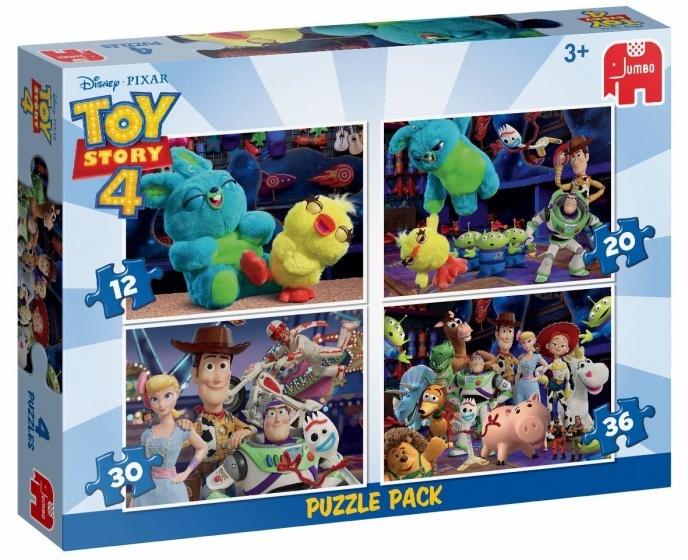 Jumbo 4-in-1 Toy Story 4 12-20-30-36 stukjes