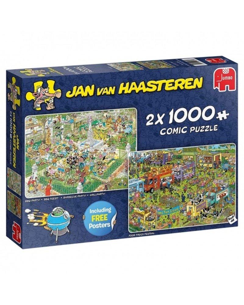 Jan van Haasteren Jan van Haasteren Food Truck Festival 2 x 1000 stukjes