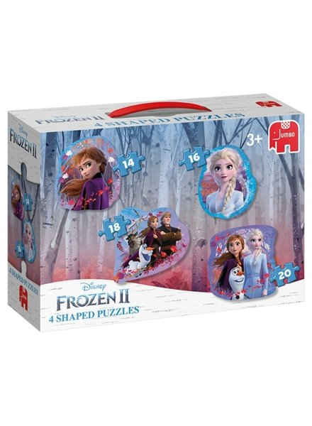 Jumbo Disney Frozen 2 - 4 in1  vorm puzzels