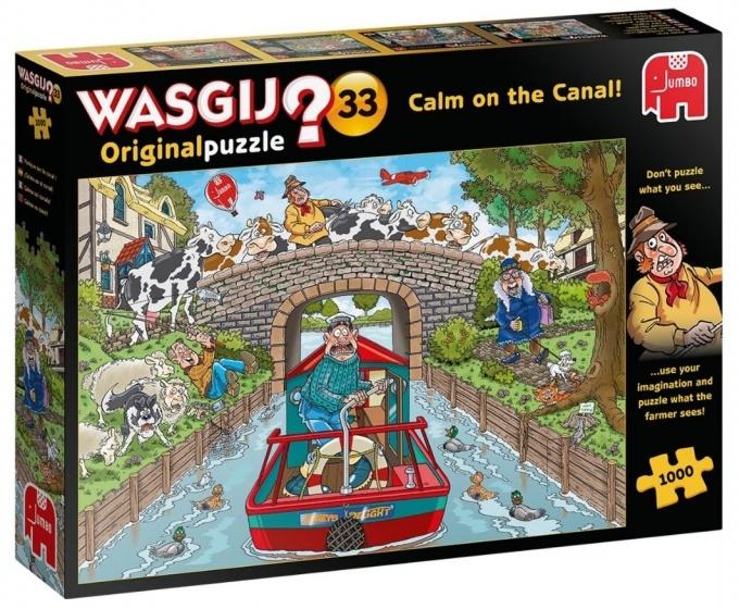Jumbo Wasgij Original 33 - Rustig aan het kanaal - 1000 stukjes