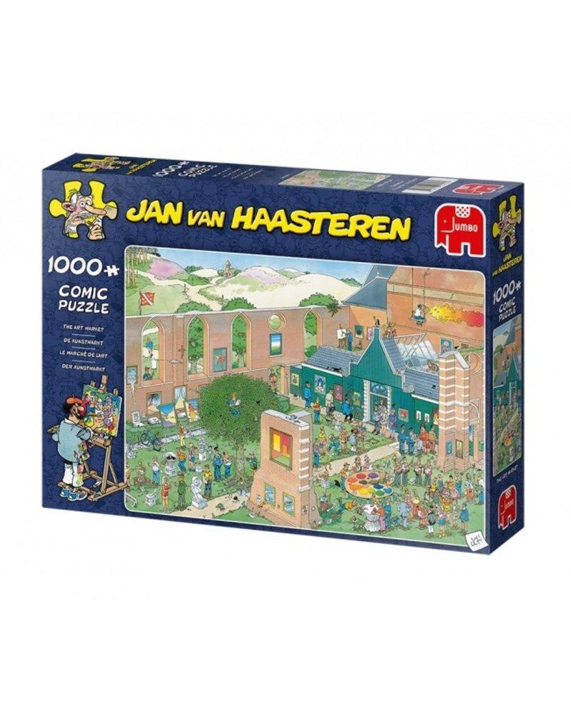 Jan van Haasteren Jan van Haasteren - The Art Market - 1000 stukjes