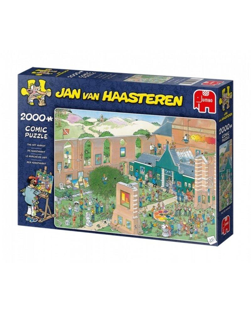 Jan van Haasteren Jan van Haasteren - The Art Market - 2000 stukjes