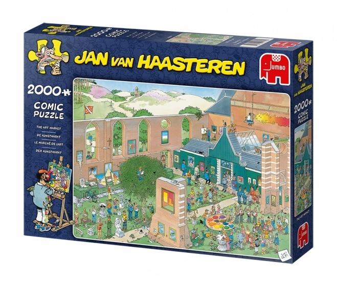 Jan van Haasteren The Art Market - 2000 stukjes