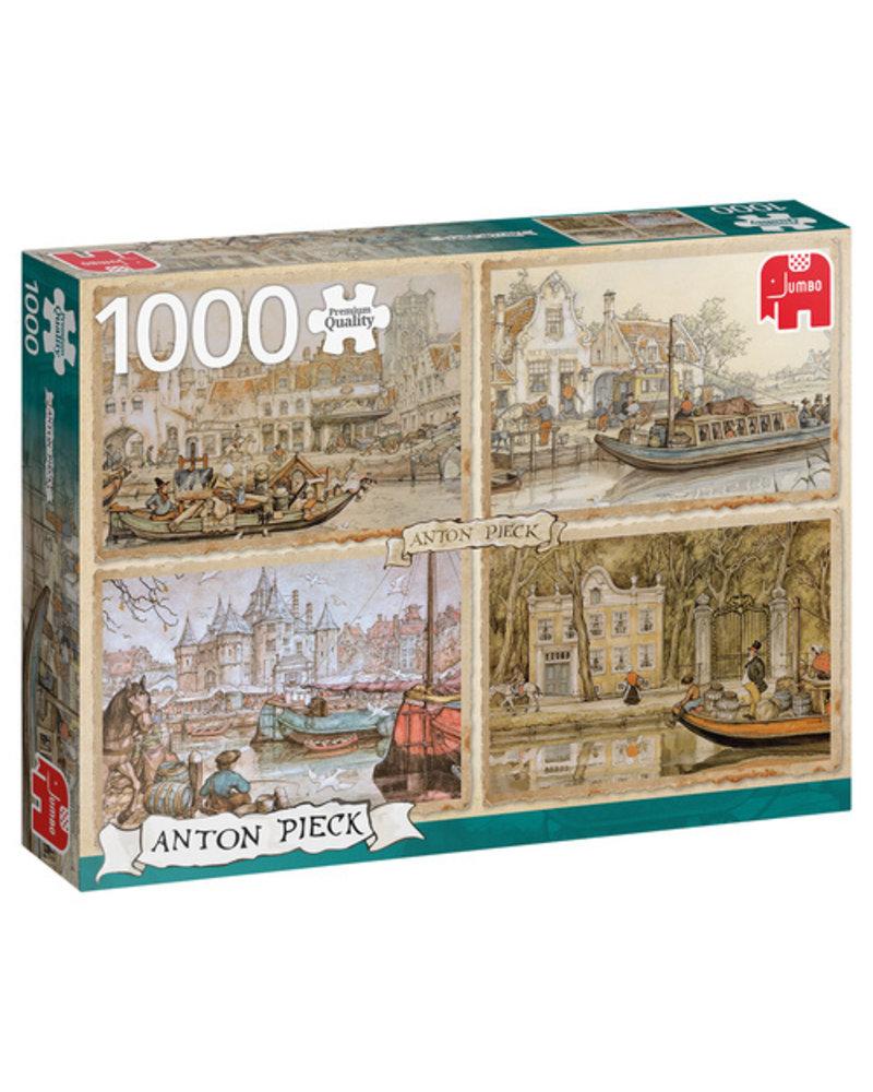 Jumbo Anton Pieck: Canal Boats - 1000 stukjes