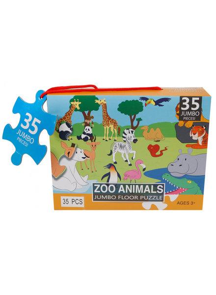 Jumbo Vloerpuzzel Zoo Animals - 35 stukjes