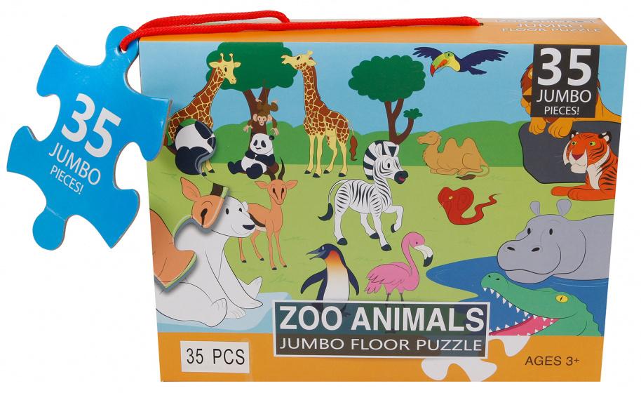 Jumbo Zoo Animals - 35 stukjes