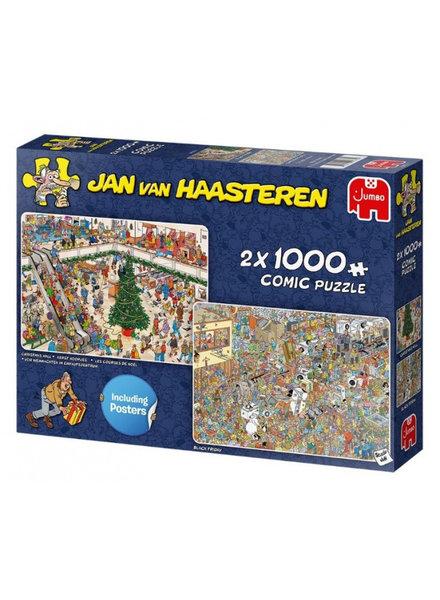 Jan van Haasteren Holiday Shopping 2 x 1000 stukjes