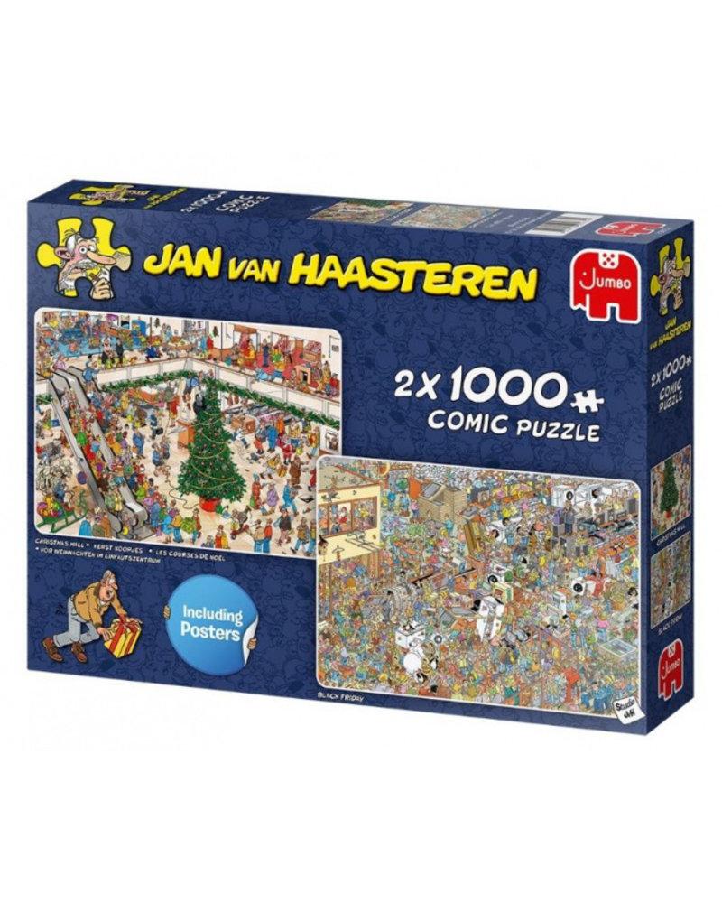 Jan van Haasteren Jan van Haasteren Holiday Shopping 2 x 1000 stukjes