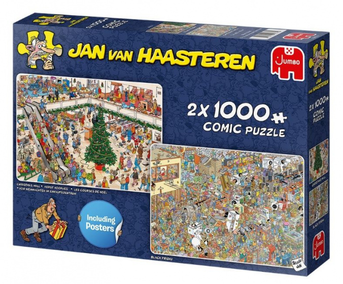 Jan van Haasteren Holiday Shopping 2 x 1000 stukjes
