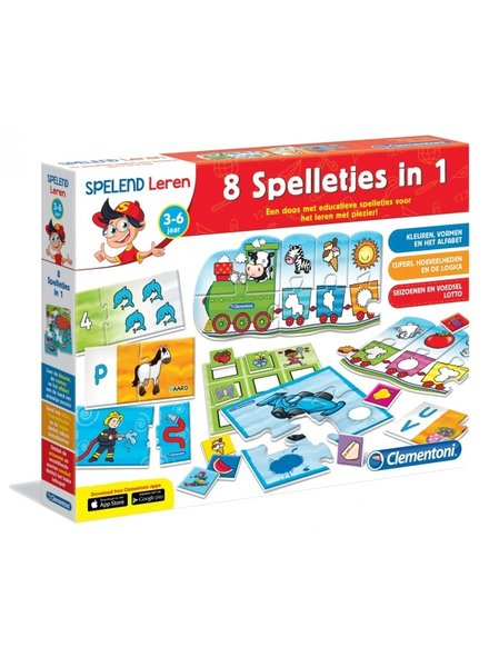 Clementoni leerspellen 8-in-1
