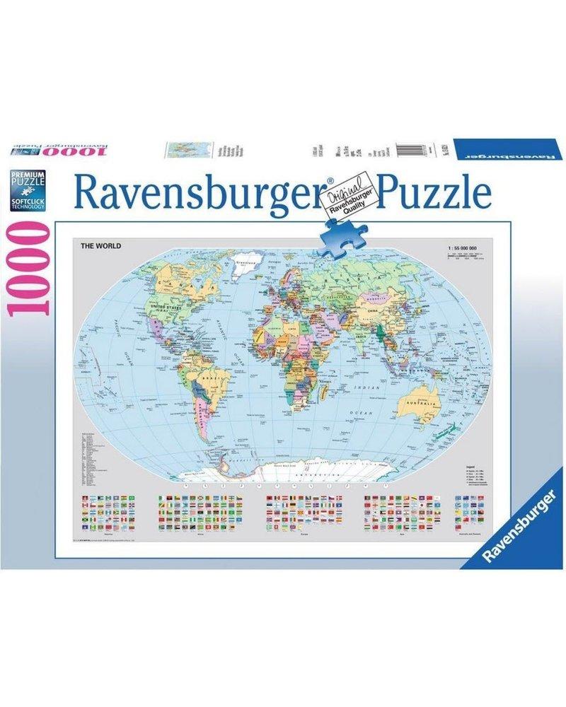 Ravensburger Puzzel 1000 stukjes Politieke wereldkaart
