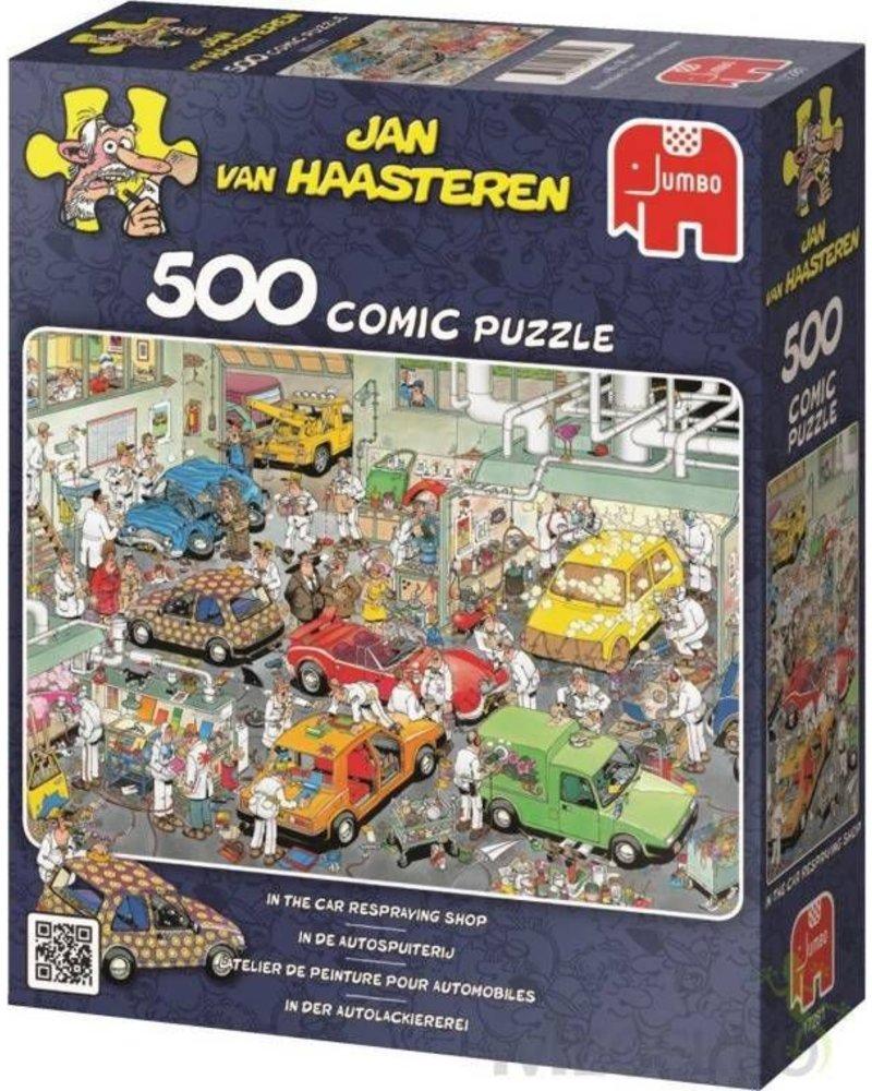 Jan van Haasteren Puzzel 500 st. JvH In de autospuiterij
