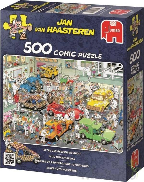 Jan van Haasteren Puzzel 500 st. Jan van Haasteren In de autospuiterij