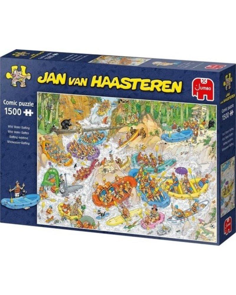 Jan van Haasteren Puzzel 1500 stukjes JvH Wild Water Raften