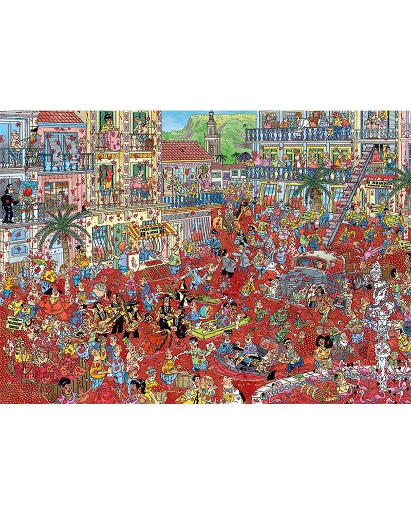 Jan van Haasteren Puzzel 1000 st. JvH La Tomatina