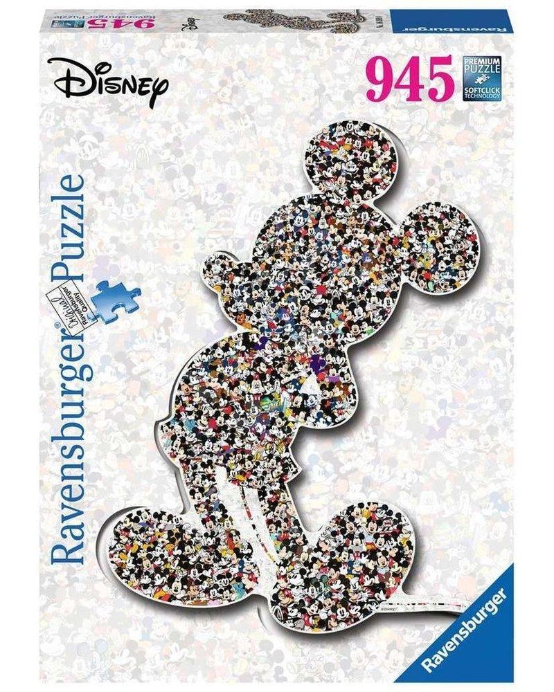 Ravensburger Puzzel 1000 stukjes WD: Shaped birthday Mickey