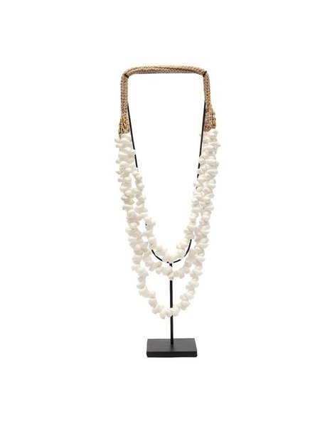Bazar Bizar White Shell Necklace on Stand