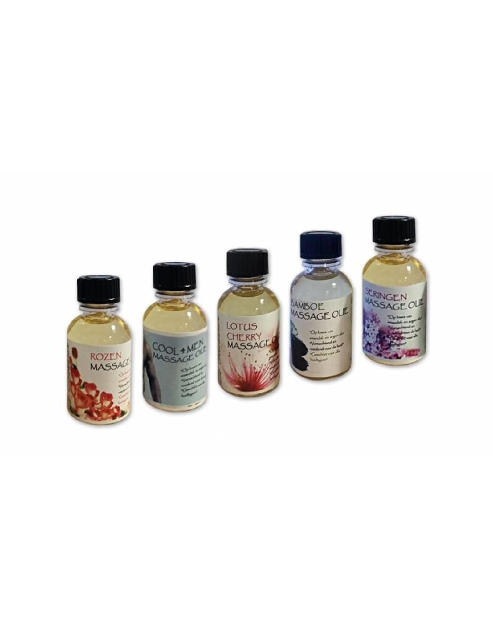 DeOliebaron  Doosje a 10 x 50 ml flesjes massage olie (Diverse geuren)