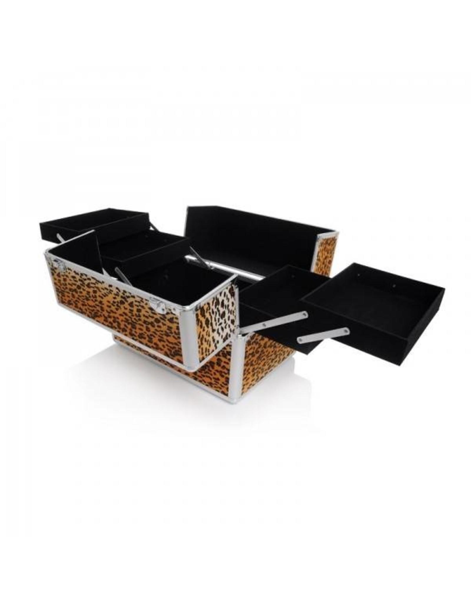 Merkloos Aluminium luxe koffer - panter