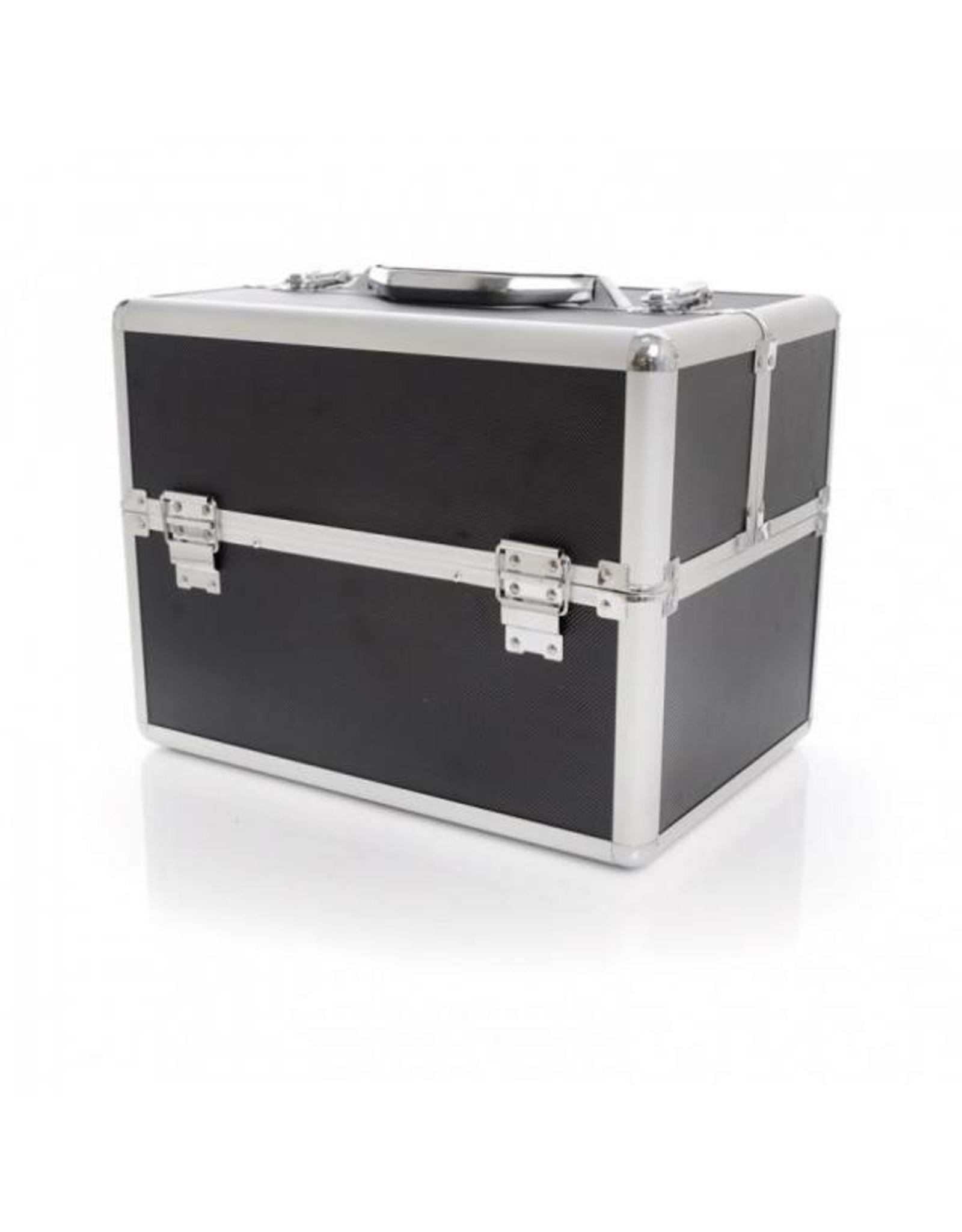 Merkloos Aluminium luxe koffer - zwart