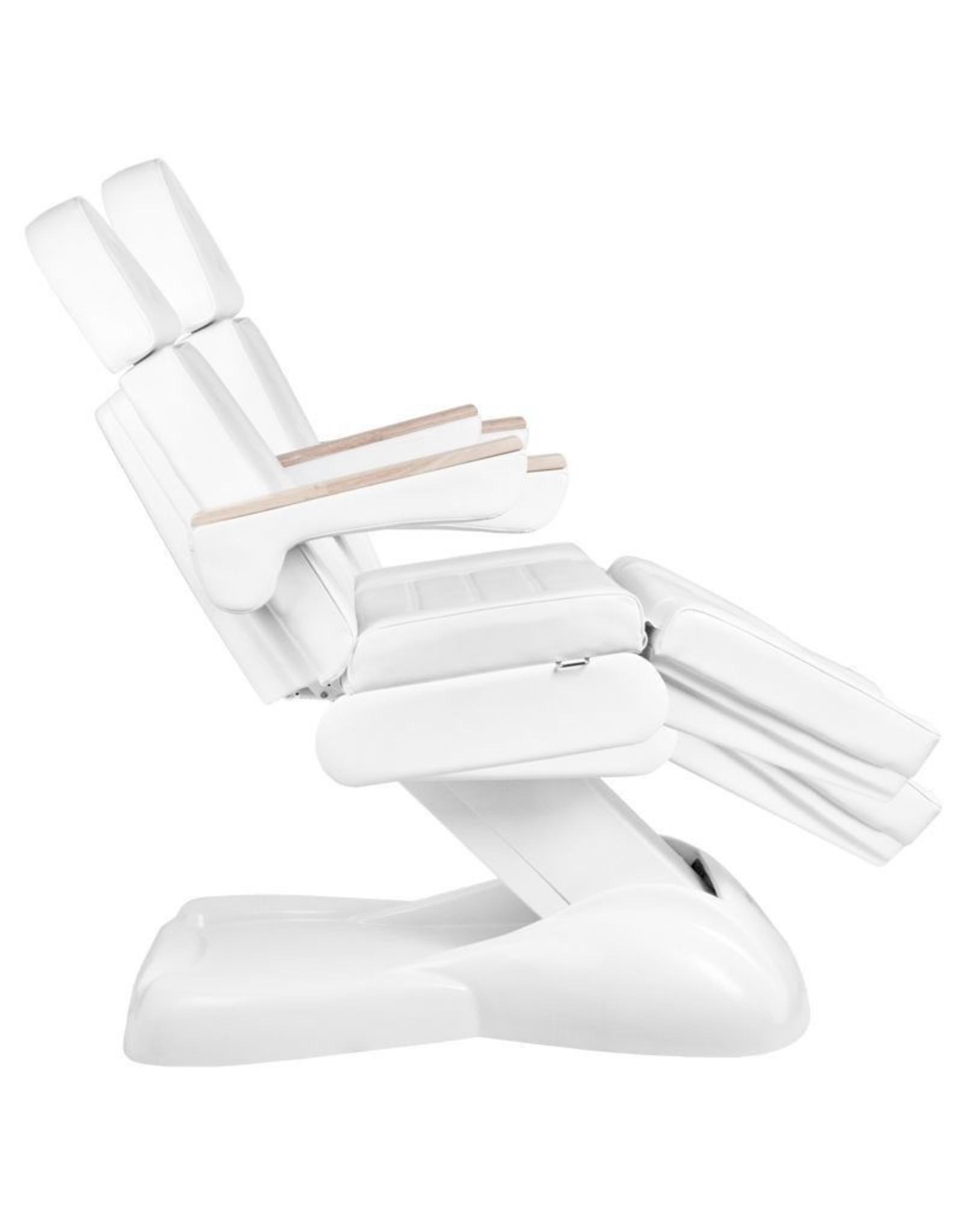 Mega Beauty Shop® Elektrische Behandelstoel Wit  (3 motoren)