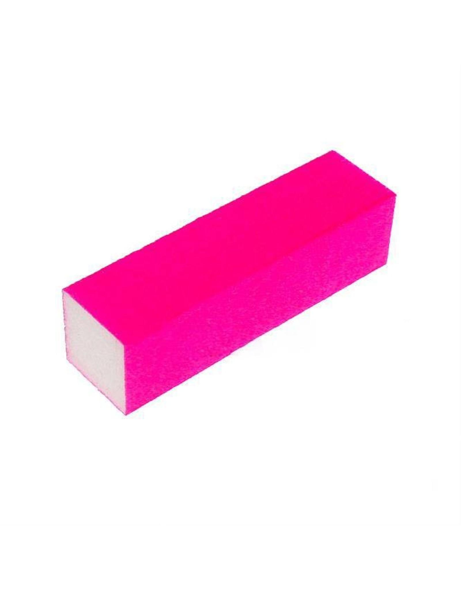Merkloos Nagel polijst blok Neon Pink