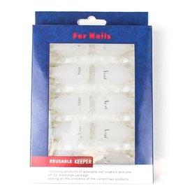 Merkloos Soak-Off Nail Soakers Wit