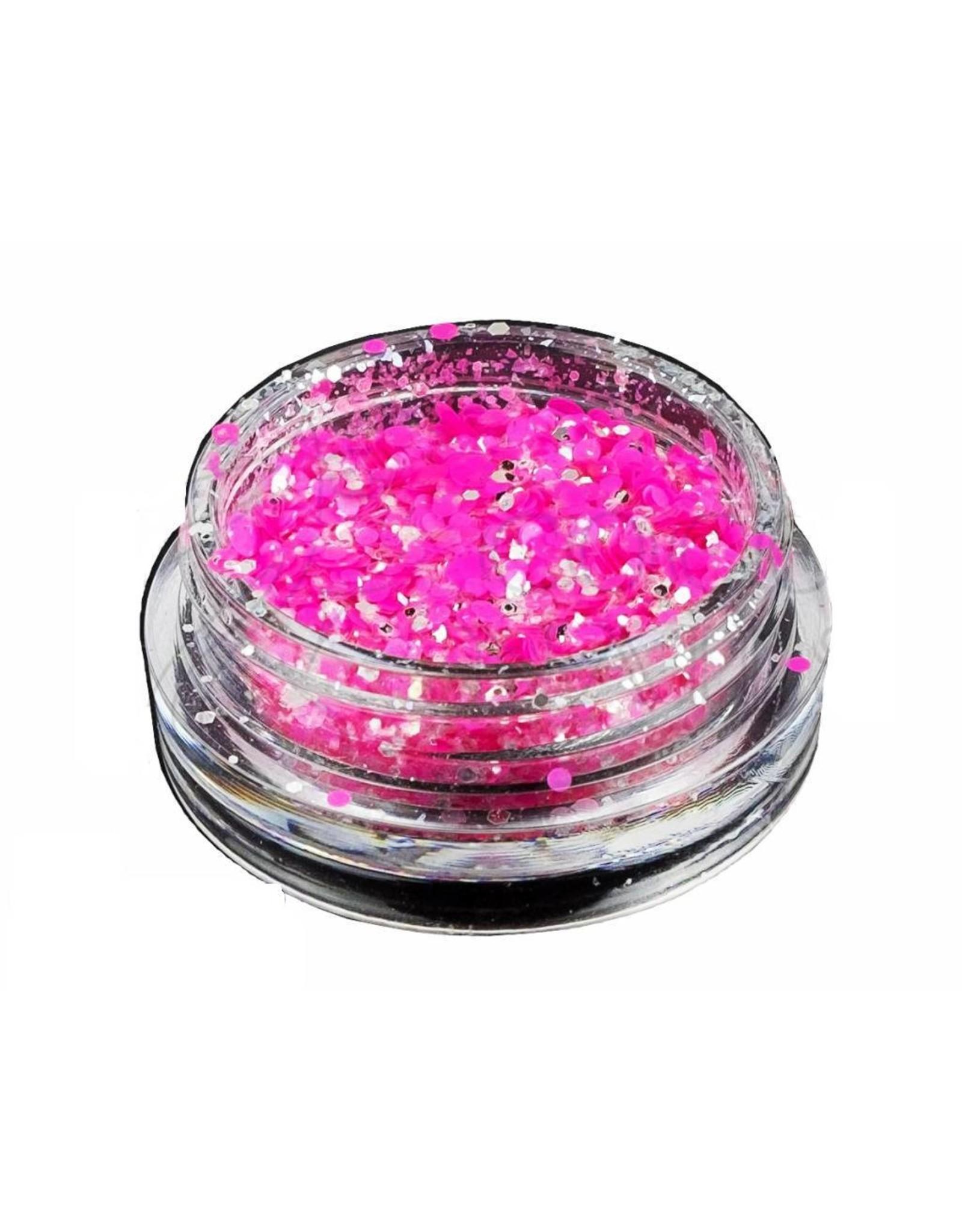 Merkloos Neon glitters