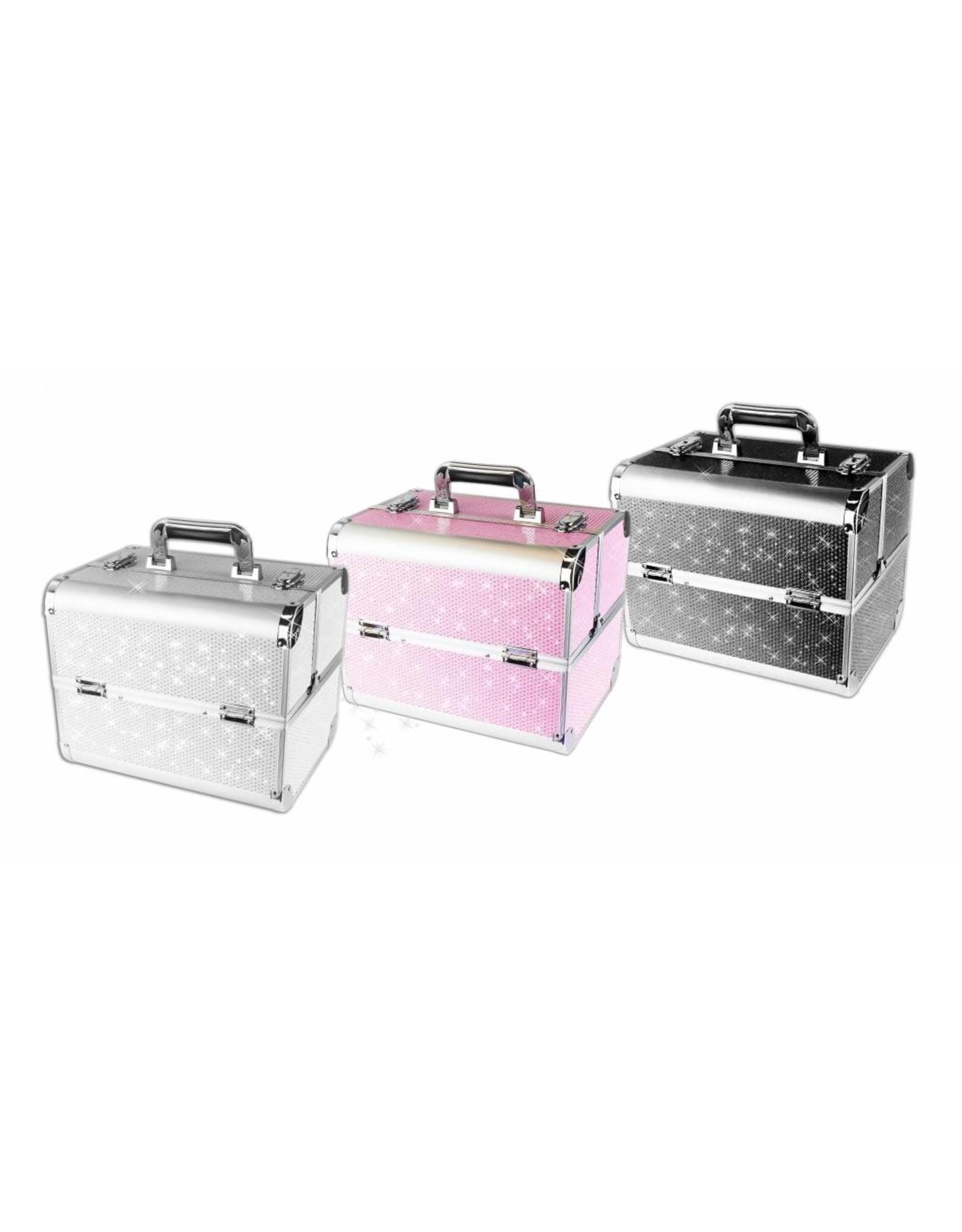 Merkloos Aluminium Koffer met stras