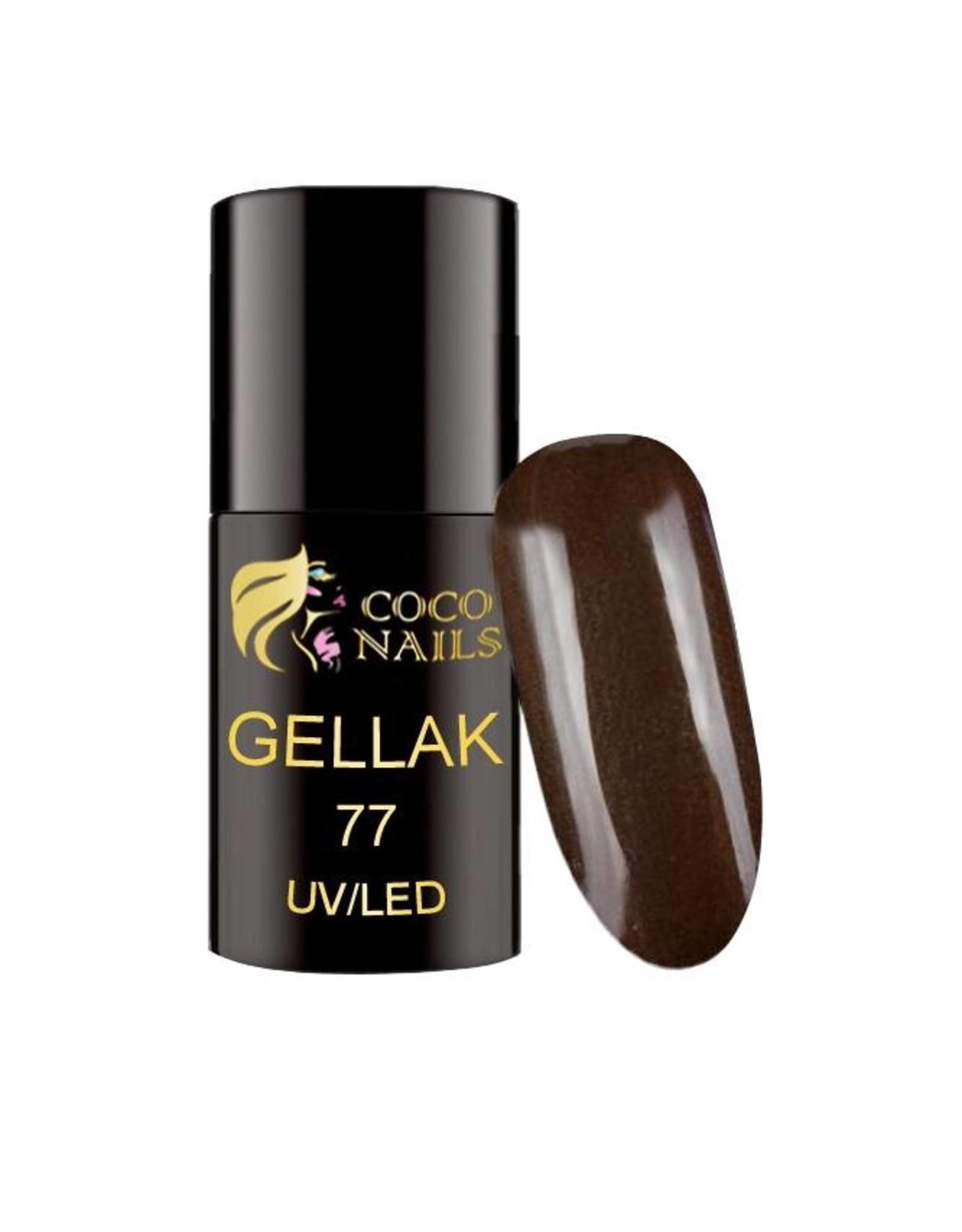 Coconails Gellak Zeer Donker Bruin 5 ml