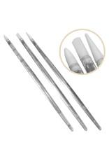 Merkloos Nailart silicone penseel. Complete set met 3 stuks.