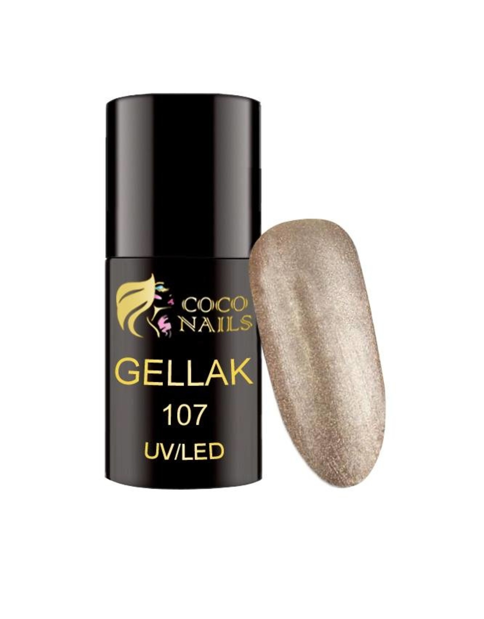 Coconails Gellak Glitter Grijs 5 ml