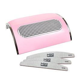 Mega Beauty Shop® Stofafzuiger met 3 motoren Roze  incl. 3  trapeze vijlen