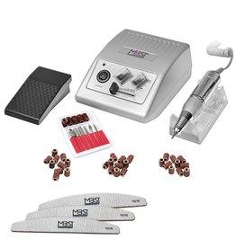 Mega Beauty Shop® Nagelfrees JD500  35Watt- Zilver + 3 trapeze vijlen 30 schuurrolletjes MBS®