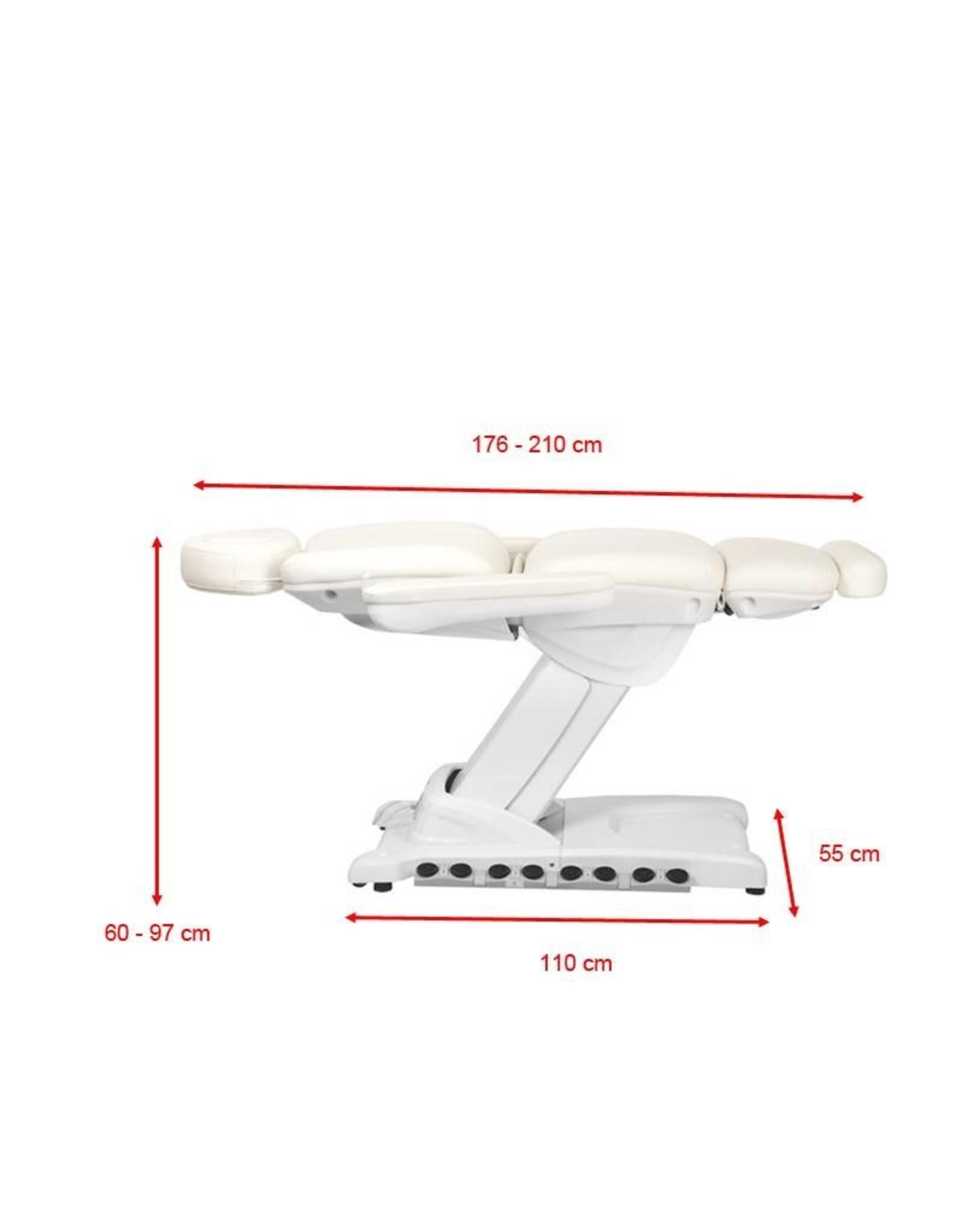 Merkloos Elektrische Behandelstoel  Wit met stoelverwarming (4 motoren)