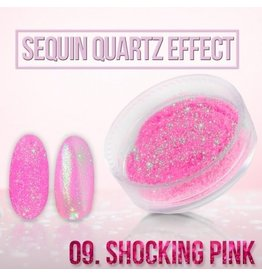 Merkloos Seaquin Quarts effect - Shocking Pink (nr. 09)