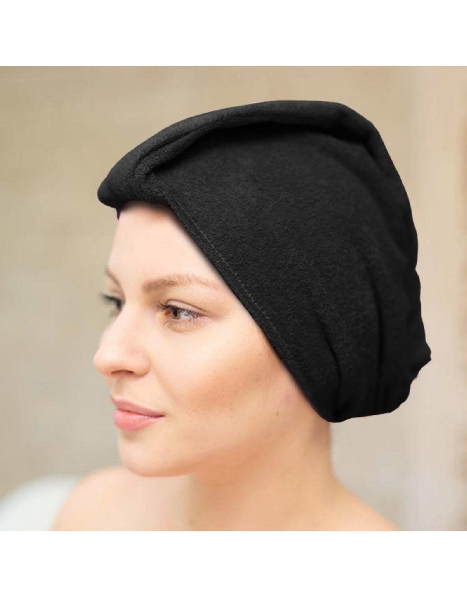 Mega Beauty Shop® Badstof tulband Zwart