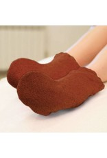Mega Beauty Shop® Badstof sokken Bruin