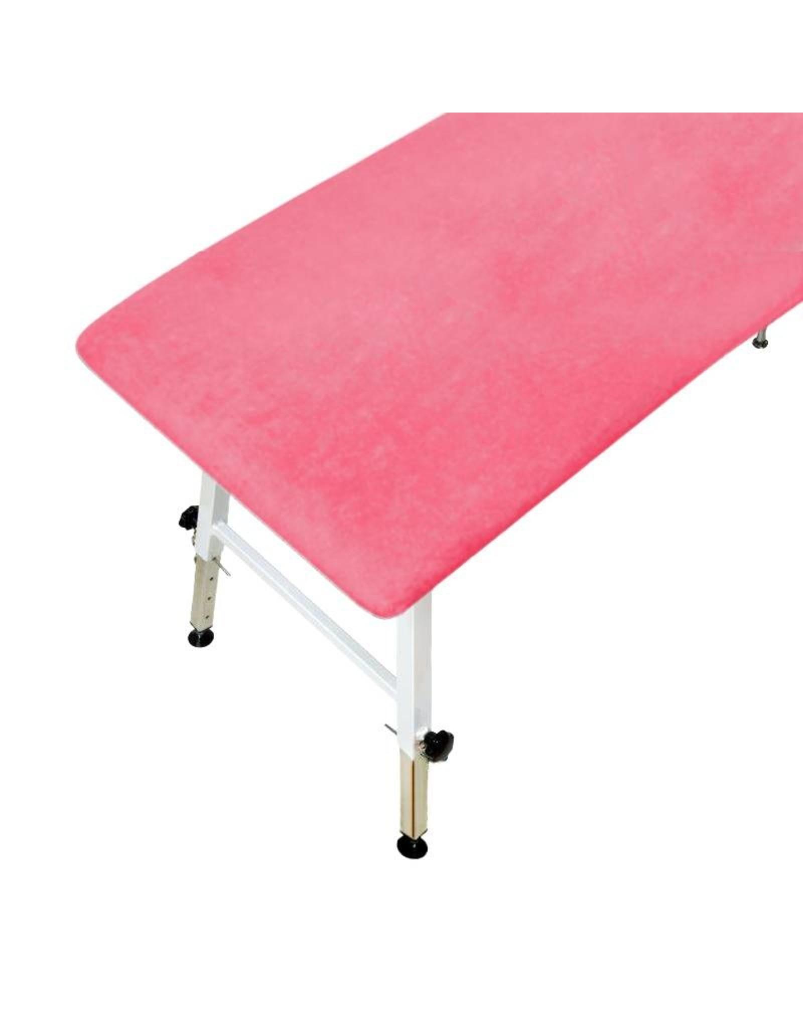 Mega Beauty Shop® Badstofhoes voor massagebank Donker Roze