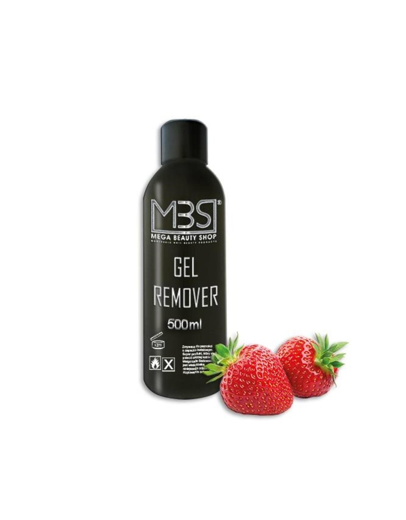 Mega Beauty Shop® Gel remover (500 ml)    met aardbeiengeur
