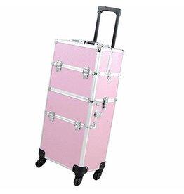 Mega Beauty Shop® Aluminium Trolley  2 in 1 Roze