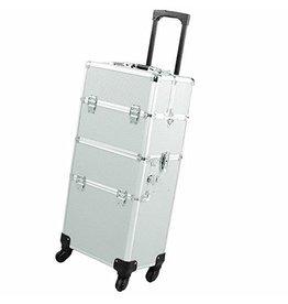 Mega Beauty Shop® Aluminium Trolley  2 in 1 Zilver