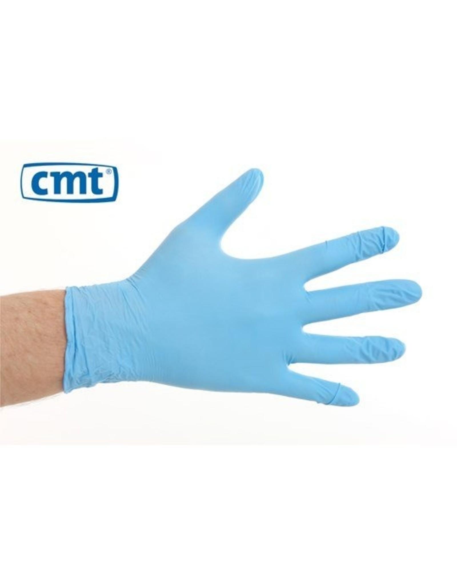 CMT CMT soft nitril handschoenen poedervrij  L blauw