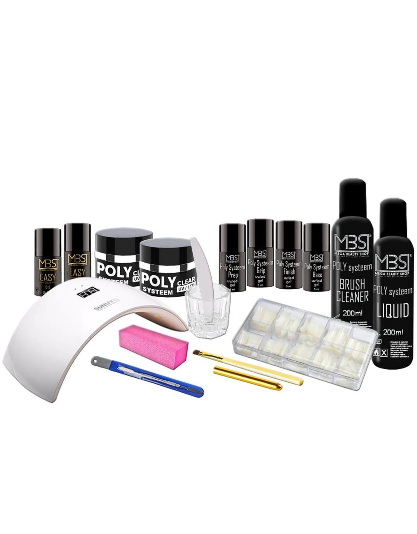 Mega Beauty Shop® Poly Systeem startpakket 8