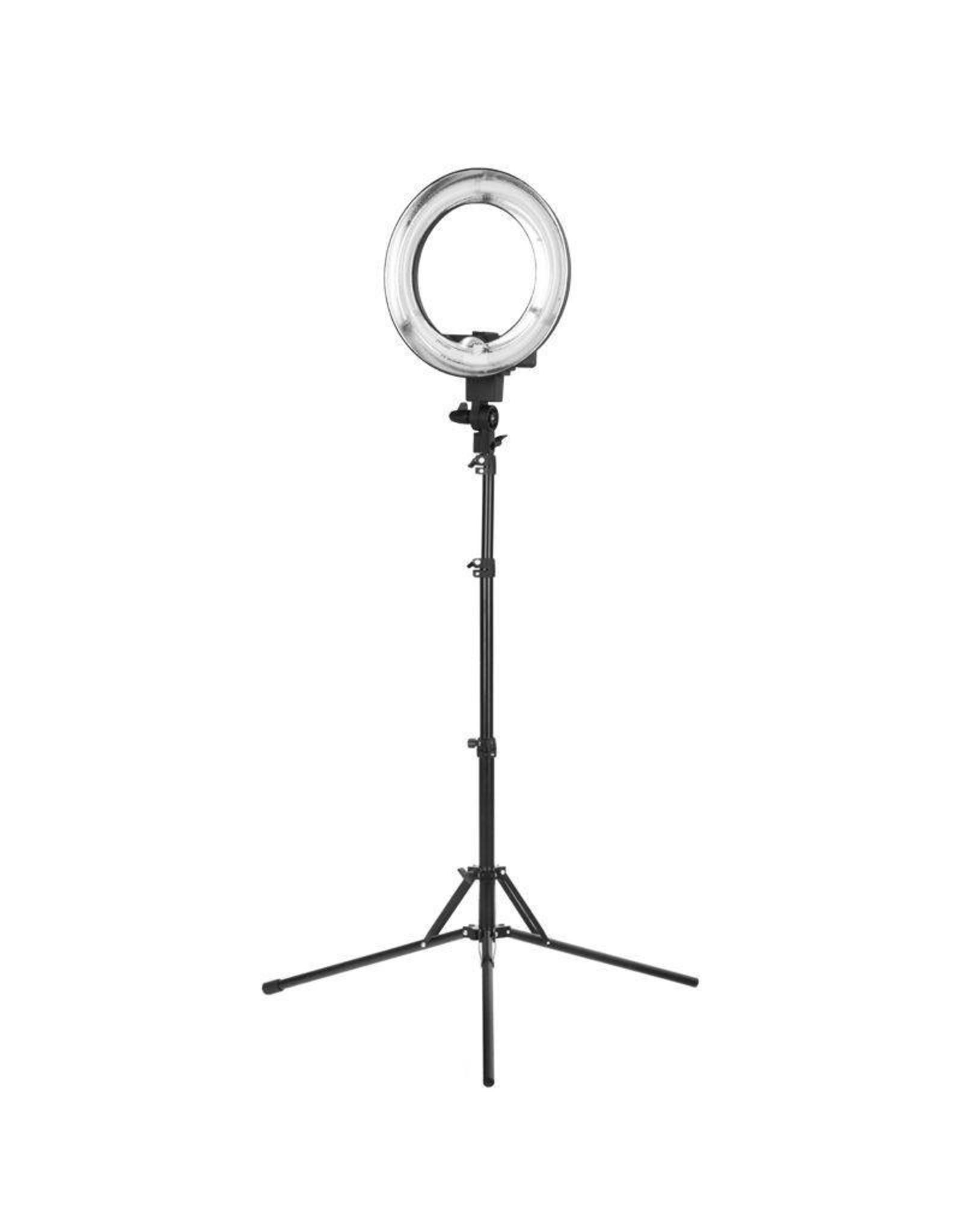 """Merkloos ACTIE! Ring lamp + statief 35Watt 12""""/zwart TL"""
