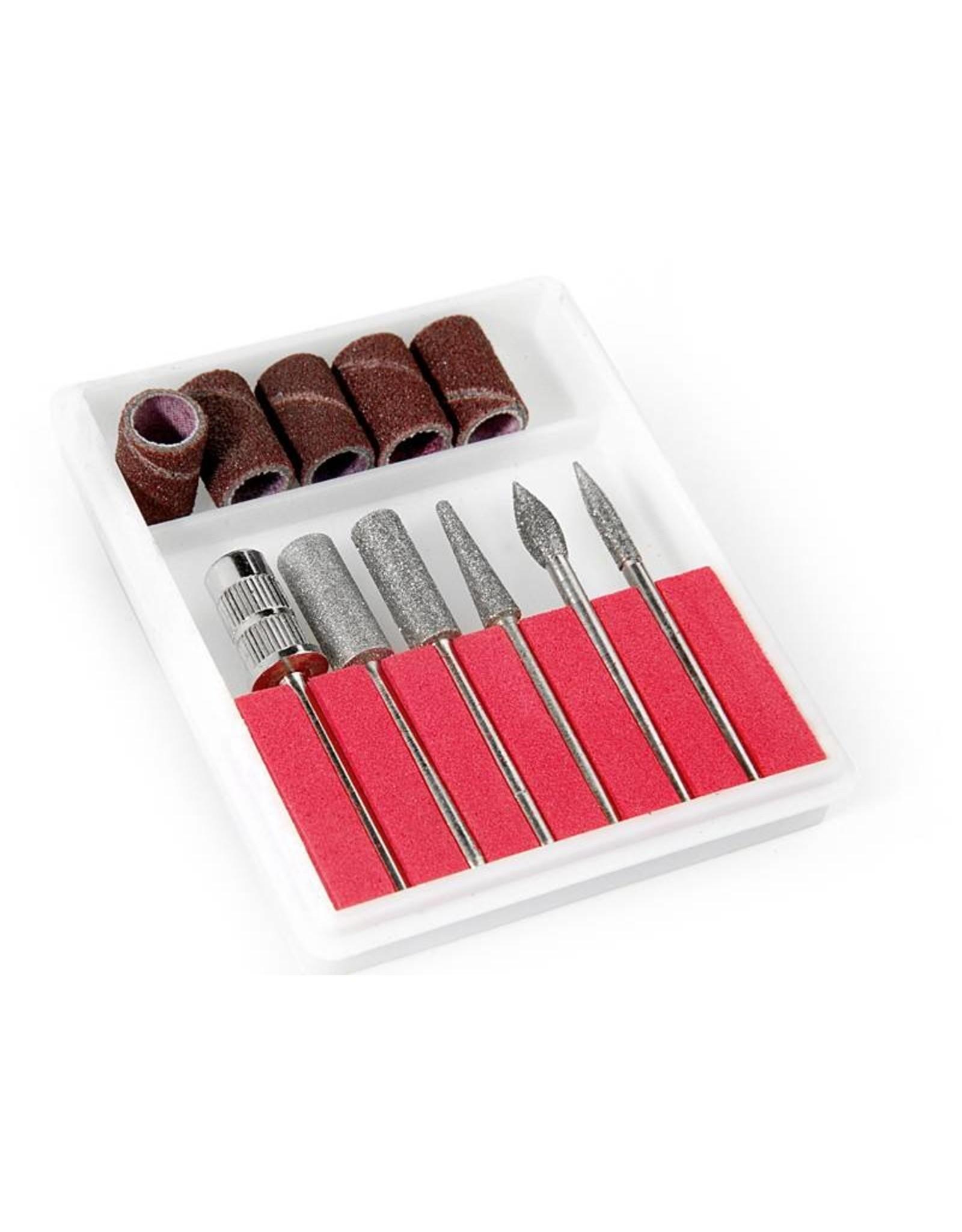 Mega Beauty Shop® Nagelfrees  JD500 35Watt Wit + 3 trapeze vijlen, bitsetje en 30 schuurrolletjes  MBS®