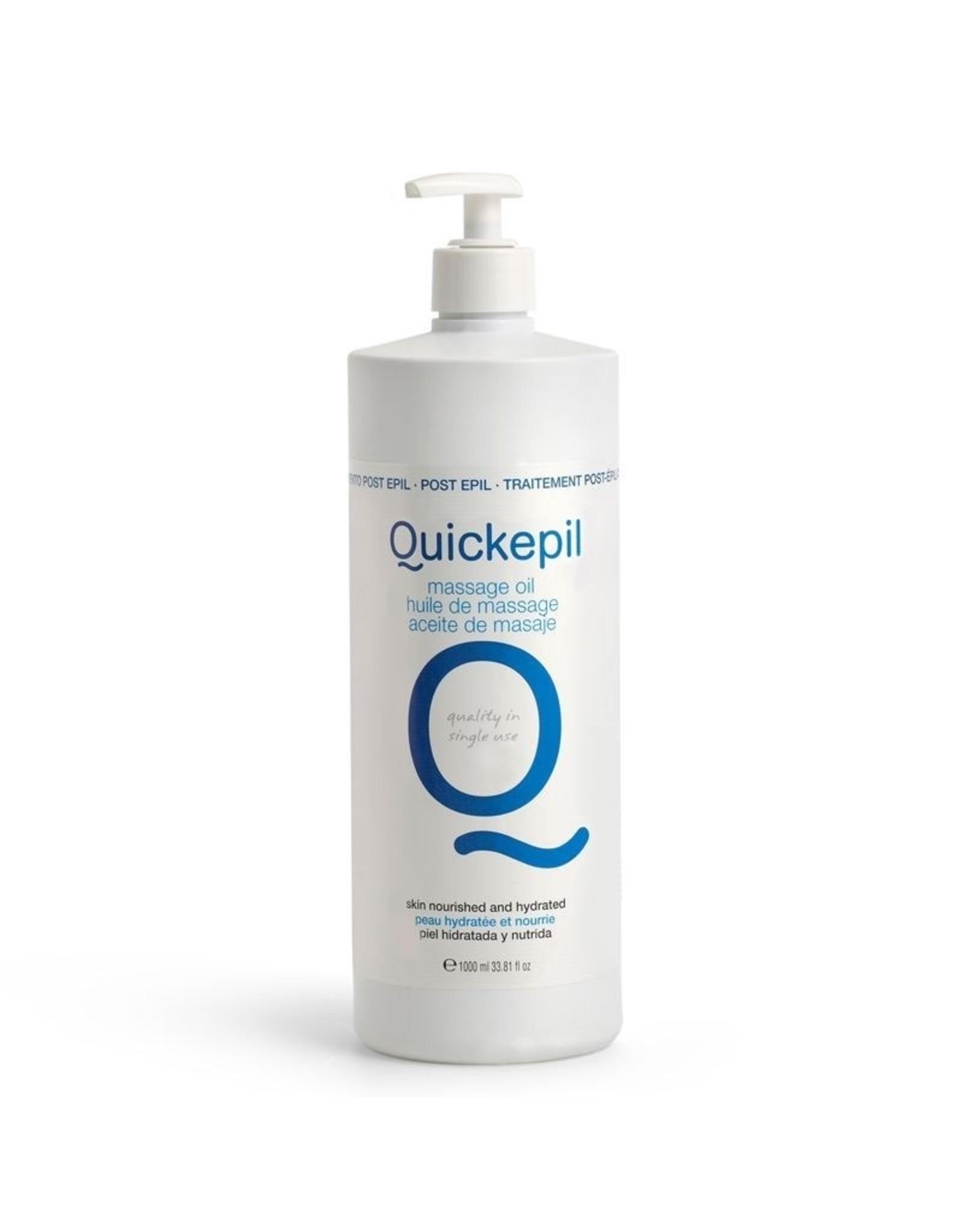 QUICKEPIL Wax Massage Olie Voor Na Ontharing 1000ml.