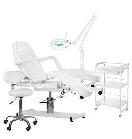 Mega Beauty Shop® 5.Behandel/pedicure starter set WIT met GRATIS behandelstoelhoes.
