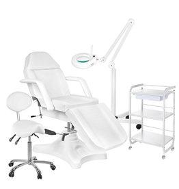 Mega Beauty Shop® 7. Behandel/pedicure starter set WIT met GRATIS behandelstoelhoes.
