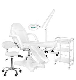 Mega Beauty Shop® 8. Behandel/pedicure starter set WIT met GRATIS behandelstoelhoes.